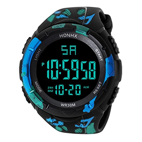 2018 Nice Design LED Reloj de Pulsera de Cuarzo Digital a Prueba de Agua Militar Reloj de los Hombres