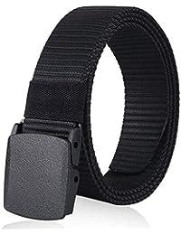 ZORO Army Tactical Waist Belt Hole free Plastic Buckle Nylon Canvas Male Men Survival Strap, 6 Colors 49