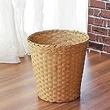 LYL Rotin créatif à la mode sans couvercle poubelle, salon chambre bureau panier de stockage (25 * 26cm) ( Couleur : A )