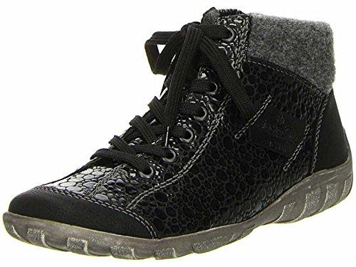 Rieker-Jura-Frauen-lässige Ankle-Boots 36 EU Black Croc