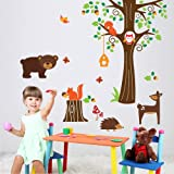 Harry & Bear Woodland Tree and Animal Wall Stickers
