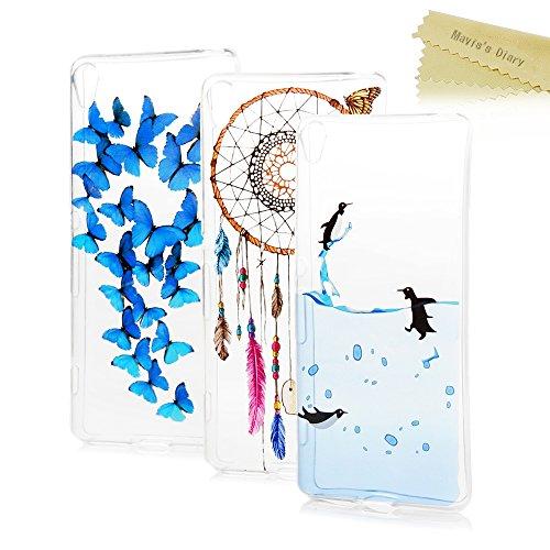 sony-xperia-xa-case-maviss-diary-3-pcs-clear-soft-flexible-tpu-silicone-rubber-skin-bumper-cover-sho
