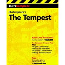 CliffsComplete: Shakespeare's The Tempest