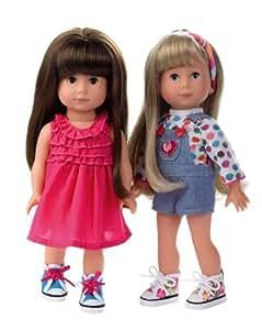 Götz 1113078 Just like me Giuseppina (links im Bild) 27 cm / Puppe braune Haare