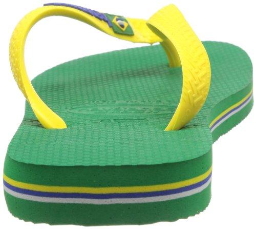 Havaianas Brasil Logo, Infradito, Unisex-adulto Verde (Green 2703)