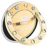 OCYCLONE Handy Fingerhalterung für Frauen, Glitzer Strass Diamant 360° Hülle Ring für iPhone XS Max Xr X 8 7 Plus, Samsung Galaxy Note 9 S9 S8 Plus, Huawei p7 p8 p10 lite p20 - Gold
