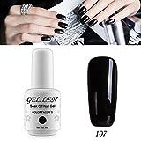 Gellen auflösbarer Nagellack Shellac UV Led nagellack Farblack 8ml 107 schwarz