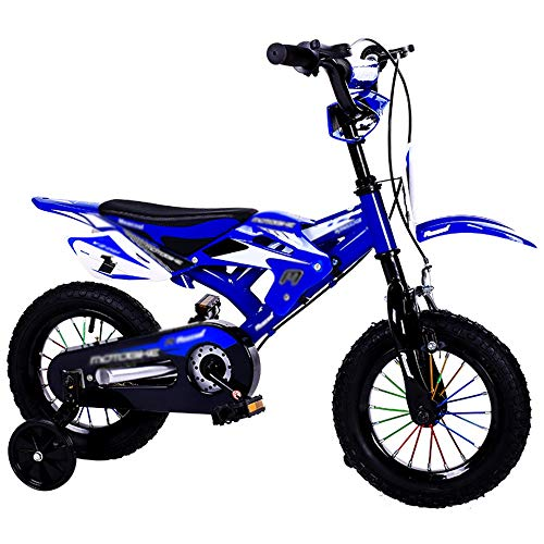 "YUMEIGE Kinderfahrräder Freestyle Boy\'s Kids Kinderfahrrad Kinderfahrrad 2 Farben mit Stützrad 12 \""14\"" 16 \""18\"" Gummigriff (Color : Blue, Size : 12in)"