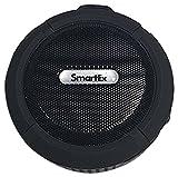 SMARTEX | Altavoz NEGRO Bluetooth portátil impermeable IP65 para Ducha, Baño, Piscina - Manos Libres Inalámbrico + Ventosa + Microfono + Mosqueton, Recargable USB/Speaker Waterproof