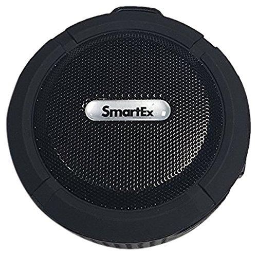 SMARTEX | Altavoz NEGRO Bluetooth portátil impermeable IP65 para Ducha, Baño, Piscina...