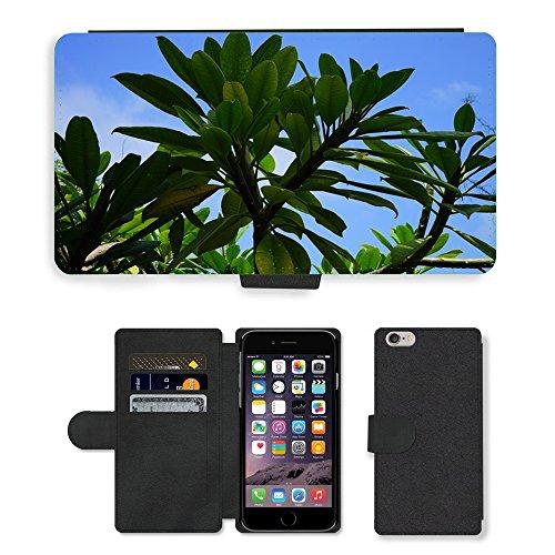 Just Mobile pour Hot Style Téléphone portable étui portefeuille en cuir PU avec fente pour carte//m00138937feuilles vert sapin/Frangipanier/Apple iPhone 6Plus 14cm