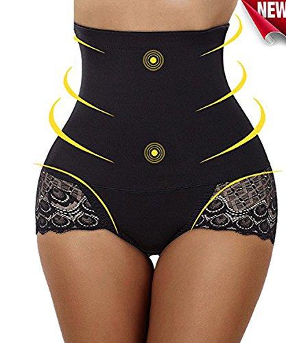 Lifter Trainer Butt Taille Mit (Weriliy Damen Body Shaper Hohe Taille Butt Lifter Bauch Kontrolle Panty Schlanke Taille Trainer (Schwarz, M))