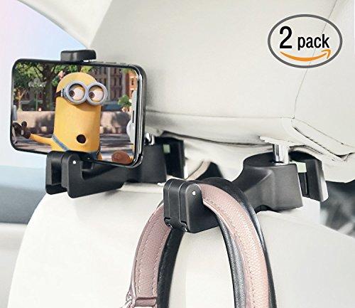 2 in 1 Pack von 2 Universal Auto Fahrzeug Rücksitz Kopfstütze Hanger Halter Haken