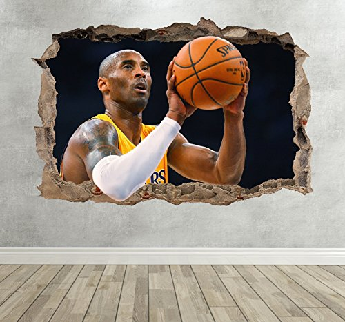 Wall Decor 247 Pegatina Pared 3D Kobe Bryant
