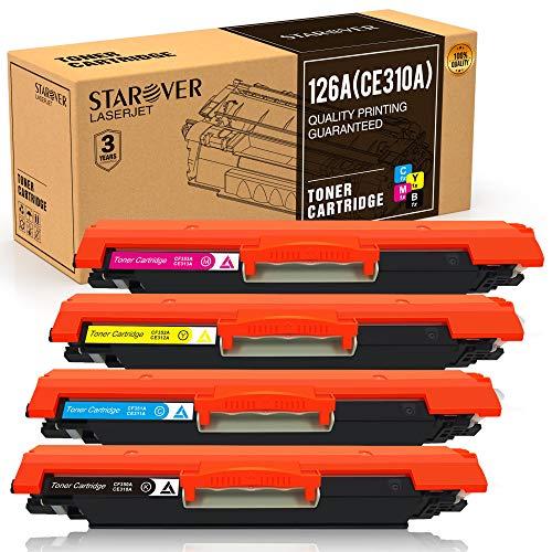STAROVER 4x 126A (CE310A-CE313A) Cartuchos De Tóner Compatible Para HP LaserJet Pro 100 color MFP M175 M175A M175nw M275 M275NW MFP CP1020 CP1025 CP1025nw MFP M176 M176FN M177 M177FW Impresora
