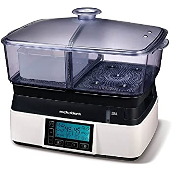 Morphy Richards Intellisteam Kompakt-Dampfgarer 6 Liter  48775 Digital display Dampfgarer weiß