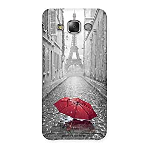 Unicovers Red Umbrella Back Case Cover for Galaxy E7