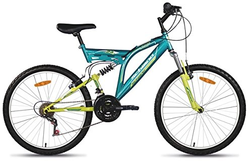F.lli Schiano Runner Power Bicicletta Biammortizzata 18 V, Verde/Giallo, 24