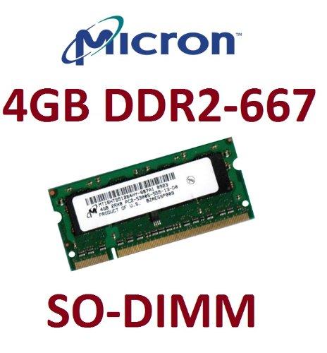 Cl5 Notebook (Micron Original 4 GB 200 pin DDR2-667 SO-DIMM (667Mhz, PC2-5300U, CL5) für DDR2 Notebooks + 2007 / 2008 Apple MacBook + MacBook Pro Modelle)
