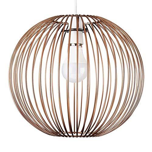 YUHT Zeitgenössischer Lampenschirm, Pendelleuchte aus Holz - Moderne Designer Deckenleuchte und Pendelleuchte Flur Wohnzimmerlampe Schlafzimmer Küche (Metall-globus, Kunst)
