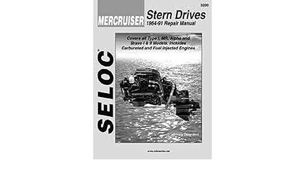 New Seloc Mercruiser Sterndrive Motor Engine Repair Manual 1964-91 SEC 3200