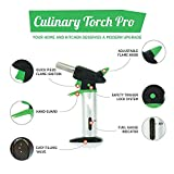 zhart Butane Refillable Blow Torch with Safety Lock and Adjustable Flame for Culinary