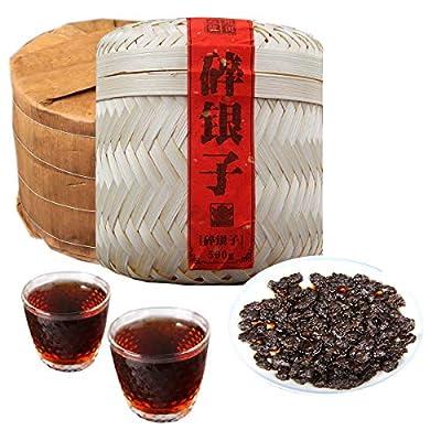 500g (1.1LB) Thé Pu Erh mûr Ancien thé Puer Yunnan Head Thé ancien Thé noir Cuit Thé Pu-erh Thé Pu Erh thé chinois Thé Bien-être Pu Erh Thé rouge Green Good Shu cha