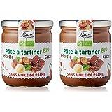 Lot de 2 Pâtes à tartiner Bio aux noisettes et cacao - 400g LUCIEN GEORGELIN