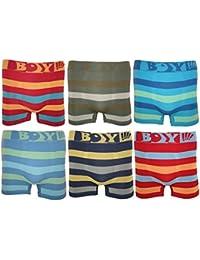 6er Pack Jungen Kinder Boxershorts TOP QUALITÄT verschiedene MODELLE. Microfaser Unterhosen Shorts Pants Seamless
