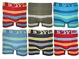 6er Pack Jungen Kinder Boxershorts/Unterhosen , Streifen , 140-146 (Herstellergröße: Talla 10/12)