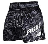 Venum Tecmo Short de Boxe Thai Homme, Gris Foncé, FR : M (Taille Fabricant...
