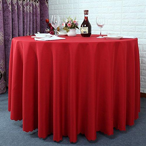 Very good KHotel Tischdecken Runden Tischdecke,Dickes Reines Schwarzem Tisch Tuch,Tischdecke Stoff Hochzeitshotel-M 120x180cm(47x71inch)
