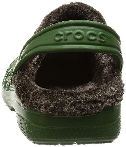 Crocs Baya Heathered Lined Clog Seaweed/Mahogany