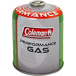Coleman C500 Performance Screw On Gas Cartridge, for Camping Stoves, Compact and Resealable Canister