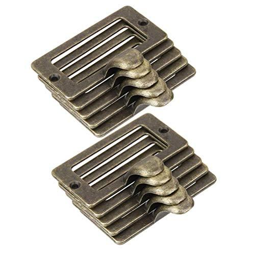 10 Stück Antike Eisen Label Rahmen Kartenhalter Cup Pull Griff Schubladenbox Schrank Schreiner Reparatur Dekoration Hardware