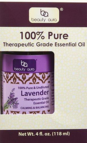 Beauty Aura 100% puro olio essenziale di lavanda - 4 oz bottiglia
