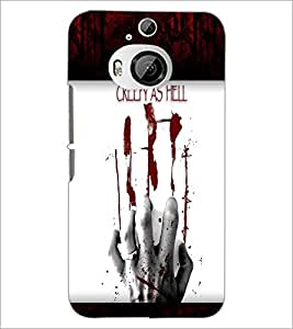 PrintDhaba Quote D-6049 Back Case Cover for HTC ONE M9 PLUS (Multi-Coloured)
