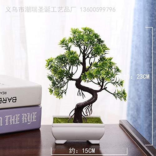 Soniry artificiale pianta bonsai albero finto bonsai albero in vaso arredi per uffici home alberi artificiali per la decorazione domestica bonsai artificiale: 8