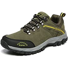 JOYTO Herren Wanderschuhe Trekking Hiking Sports Outdoor Weiche und Bequeme Rutschfeste Sneaker Grau Braun Armeegrün 39-48