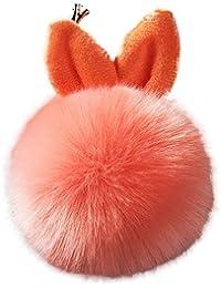 15c974d9a3 aikesi Bellissimo portachiavi di orecchie di coniglio Felpa Borse di moda  telefono cellulare Zaino portachiavi ciondolo