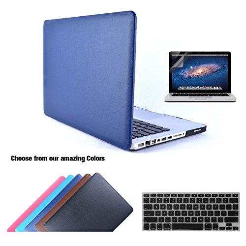 MacBook Pro 13 Custodia in Pelle, TECOOL [Ultra Sottile Serie] Schermo Protezione, Copertura della Tastiera (Silicon Schermo Pelle Della Protezione)
