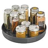 mDesign Plato giratorio para estantes de cocina - 22,9 cm de