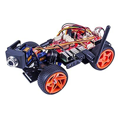 SunFounder Raspberry Pi Smart Video Car Kit V2.0 GUI programming Remote Control by UI on Windows/Mac and Web Browser Electronic Toy with Detail Manual von SunFounder