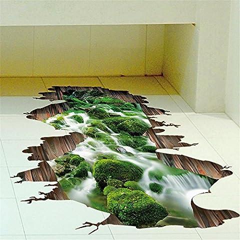 3D Wandaufkleber Toilette Bad Bodenfliesen wasserdicht Aufkleber Schlafsaal kreative Einrichtungsgegenstände