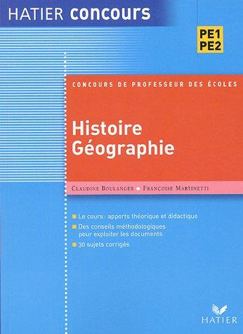 Préparation à l'épreuve d'histoire-géographie du concours de professeur des écoles