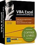 VBA Excel (version 2019 et office 365) : Coffret de 2 livres : Maîtrisez la programmation sous Excel : Cours, exercices et corrigés...