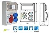 Stromverteiler Baustromverteiler Wandverteiler 1 x CEE 16A + 2 x 230 V/16A verdrahtet