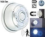 Lunartec Licht Bewegungsmelder: LED Innen- & Außenlicht mit PIR-Sensor & Magnethalterung, IP44, 100 lm (LED mit Bewegegungssensor)