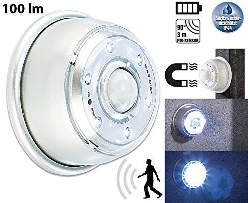 Lunartec Treppenleuchte: LED Innen- & Außenlicht mit PIR-Sensor & Magnethalterung, IP44, 100 lm (LED Nachtlicht Bewegungsmelder)