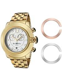 Glam Rock 0.96.2269 - Reloj analógico de cuarzo unisex con correa de acero inoxidable, color dorado